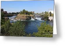 Spokane Falls Hdr Greeting Card by Carol Groenen