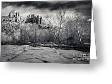Spooky Castle Rock Greeting Card by Darcy Michaelchuk
