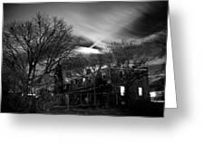 Spooky Night Greeting Card by Ken Stachnik