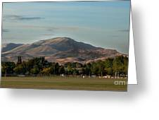 Sport Complex And The Butte Greeting Card
