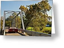 Sports Car On A Bridge Greeting Card