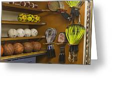 Sports Equipment Display Greeting Card
