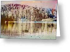 Sprayscape Lake Greeting Card by Stephen Sly