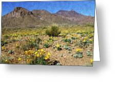 Spring Bloom Franklin Mountains Greeting Card