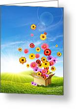 Spring Delivery 2 Greeting Card by Carlos Caetano