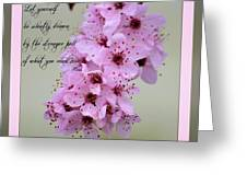 Spring Flowering Tree Inspirational Rumi Floral Greeting Card