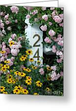 Spring Flowers And Fencepost Greeting Card