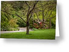 Spring Garden Landscape Greeting Card