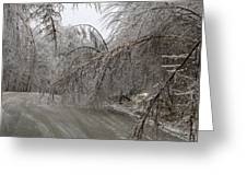 Spring Ice Storm Greeting Card