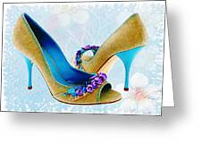 Spring In Your Step Pumps Greeting Card