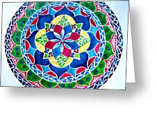 Spring Mandala Greeting Card