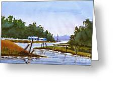 Spring On The River Greeting Card