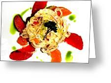 Spring Pasta Greeting Card
