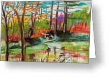 Spring Pond Side Greeting Card