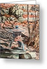 Spring Shadows Greeting Card by Peter Sit