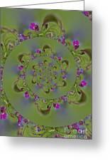 Spring Spiral. Greeting Card