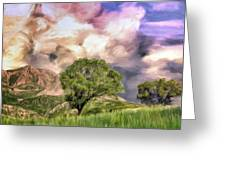 Spring Storm In Tuscany Greeting Card