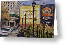 Spring Street At Basin Park Greeting Card
