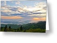 Spring Sunset Panorama Greeting Card