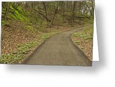 Spring Trail Scene 4 Greeting Card