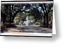 Spring Walk Through Forsyth Park Greeting Card