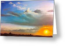 Springfield Sunset Greeting Card by Prashant Shah