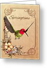 Springtime - Hummingbird Greeting Card