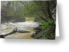 Springtime Waterfall Greeting Card