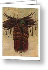 Squaw With Wood Greeting Card