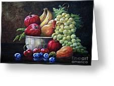 Srb Fruit Bowl Greeting Card
