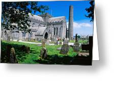 St Canices Cathedral &, Round Tower Greeting Card
