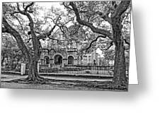 St. Charles Ave. Mansion Monochrome Greeting Card
