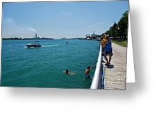 St. Clair River Boardwalk Greeting Card