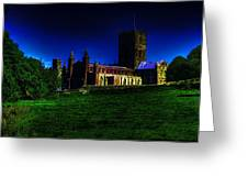 St Davids Cathedral Pembrokeshire Glow Greeting Card