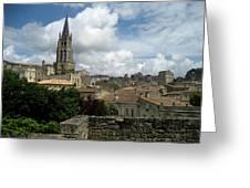 St Emilion Village Greeting Card