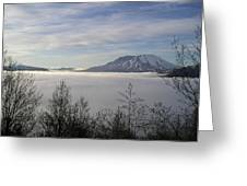 St Helens Above Clouds Greeting Card
