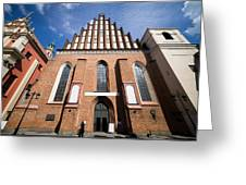 St. John Archcathedral In Warsaw Greeting Card