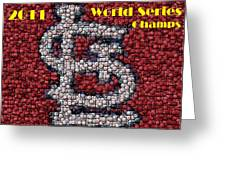 St. Louis Cardinals World Series Bottle Cap Mosaic Greeting Card