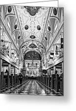 St. Louis Cathedral Monochrome Greeting Card