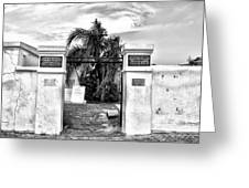 St Louis Cemetery Gate - New Orleans Greeting Card