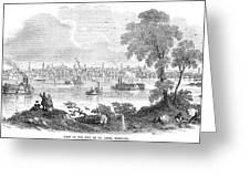 St. Louis, Missouri, 1854 Greeting Card