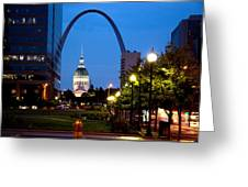 St Louis Old Court House And Arch Greeting Card