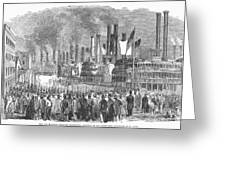 St. Louis: Steamboats, 1857 Greeting Card