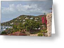 St Maarten Rooftops Greeting Card