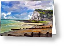 St. Margaret's Bay At Dover Greeting Card