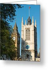 St Margarets Church Westminster  Greeting Card