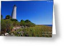 St Marks Lighthouse Along The Gulf Coastst Greeting Card