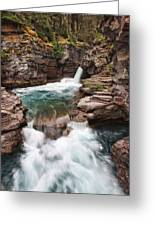 St. Mary Falls Glacier National Park Greeting Card