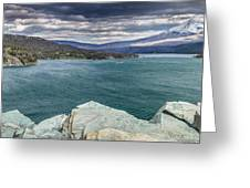 St. Mary Lake Under Stormy Skies Greeting Card
