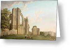 St Mary's Abbey -york Greeting Card by Michael Rooker